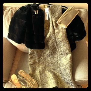 Gold  Brocade Dress